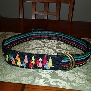 L.L. Bean Handknotted Wool Blanket Belt